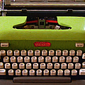 Vintage Typewriter - Painterly - Square by Wingsdomain Art and Photography