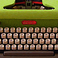 Vintage Typewriter - Painterly by Wingsdomain Art and Photography