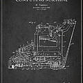 Vintage Typewriter Patent From 1918 by Aged Pixel
