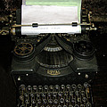 Vintage Typewriter Mechanical by Tom Conway