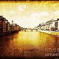 Vintage View of River Arno