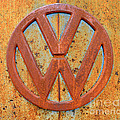 Vintage Volkswagen Bus Logo by Catherine Sherman