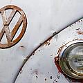Vintage Vw Badge by Steve McKinzie
