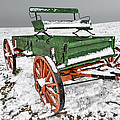Vintage Wagon In The Snow E98 by Wendell Franks