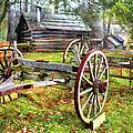 Vintage Wagon On Blue Ridge Parkway I by Dan Carmichael