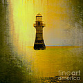Vintage Whiteford Lighthouse by Eben Photoart