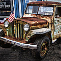 Vintage Willy's Jeep Pickup Truck by Kathy Clark
