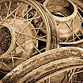 Vintage Wire Wheels by Steve McKinzie