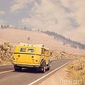 Vintage Yellowstone Bus by Edward Fielding