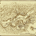 Vintage Yosemite Map 1870 by Andrew Fare