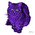 Violet Feral Cat - 9905 Fs by James Ahn