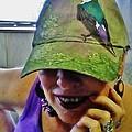 Violet-green Swallow Cap by VLee Watson