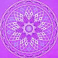 Violet Mandala by Vlatka Kelc