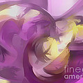 Violet Summer Pastel Abstract by Alexander Butler