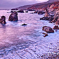 Violet Tides - Rocky Coast From Soberanes Point In Garrapata State  by Jamie Pham