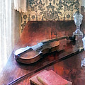 Violin On Credenza by Susan Savad