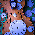 Violin With Watch Faces by Garry Gay