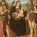 Virgin And Child Between St. John by Neapolitan School