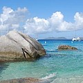 Virgin Islands The Baths With Boats by Robyn Saunders