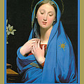 Virgin Of The Adoption Poster by Jean Auguste Dominique Ingress