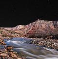 Virgin River At Night 2 by Richard Dickinson
