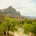 Virgin River Through Zion National Park 2 by Tracy Winter