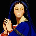 Virgin With The Host After Ingres by Gary  Hernandez