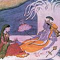 Vishnu And Lakshmi Float Across Cosmos by Photo Researchers