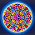Vision - Brow Chakra Mandala by Vikki Reed