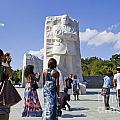 Visitors At The Martin Luther King Jr Memorial by B Christopher