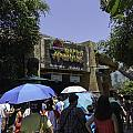 Visitors Thronging The Jurassic Park Rapids Adventure Ride by Ashish Agarwal