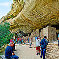 Visitors To Spruce Tree House On Chapin Mesa In Mesa Verde National Park-colorado by Ruth Hager