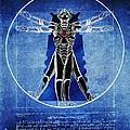 Vitruvian Cyberman In Deep Space  by Helge