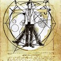 Vitruvian Dr Who by Helge