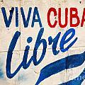 Viva Cuba Libre Sign by Deborah Benbrook