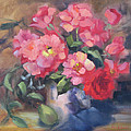Vivacious Roses by Karin  Leonard