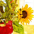 Vivid Cheery Sunflower Bouquet by Maria Janicki