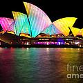 Vivid Sydney 2014 - Opera House 1 By Kaye Menner by Kaye Menner
