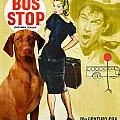 Vizsla Art Canvas Print - Bus Stop Movie Poster by Sandra Sij