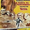 Vizsla Art Canvas Print - North By Northwest Movie Poster by Sandra Sij