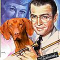Vizsla Art Canvas Print - The Glenn Miller Story Movie Poster by Sandra Sij