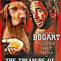 Vizsla Art Canvas Print - The Treasure Of The Sierra Madre Movie Poster by Sandra Sij