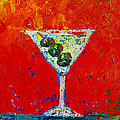 Vodka Martini Shaken Not Stirred - Martini Lovers - Modern Art by Patricia Awapara