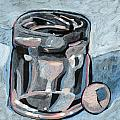 Vodka Shot Glass In Snow  by Richard Glen Smith