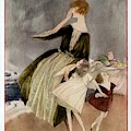 Vogue Cover Featuring A Mother And Her Two by Henry R. Sutter