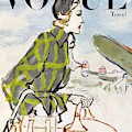 Vogue Cover Featuring A Woman Carrying Luggage by Carl Oscar August Erickson