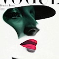 Vogue Cover Featuring A Woman's Face by Erwin Blumenfeld