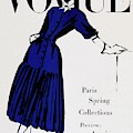 Vogue Cover Illustration Of A Woman Wearing Blue by Dagmar