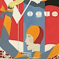 Vogue Cover Illustration Of Woman Waving by Eduardo Garcia Benito