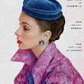 Vogue Cover Of Suzy Parker by John Rawlings